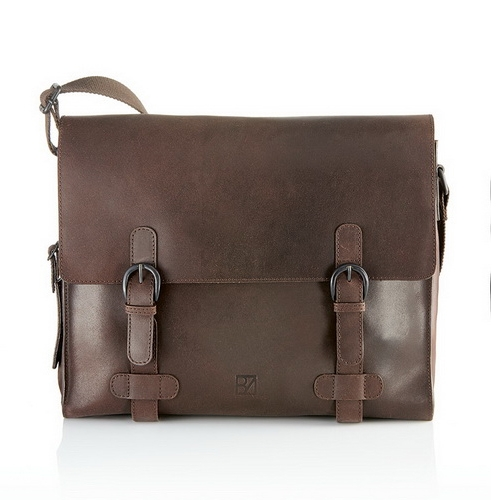 Messenger Bag Aktentasche 35,5x12x28cm Vollrindleder MARANO Bodenschatz (BOma8-155MR)
