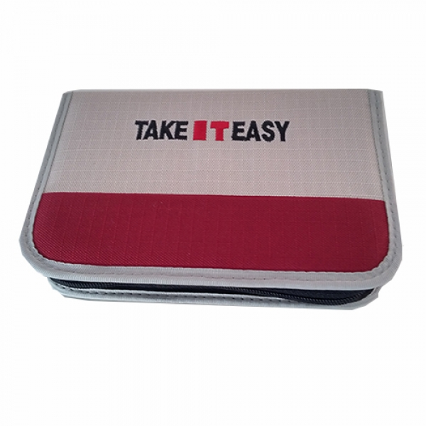 Stiftetasche leer 2 Kl. Rippstop 20 x 13 x 3,5 cm Take It Easy (TEac26970a)