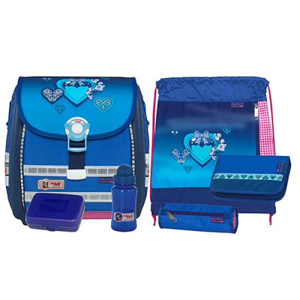 School bag Set ERGO Light 3000, 6 Teile 33x39x20 cm Blue Herts McNeill (MCbh9575122SETa)